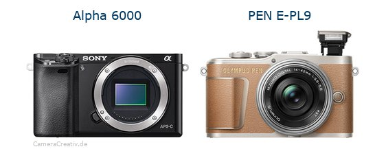 Sony alpha 6000 vs Olympus pen e pl9