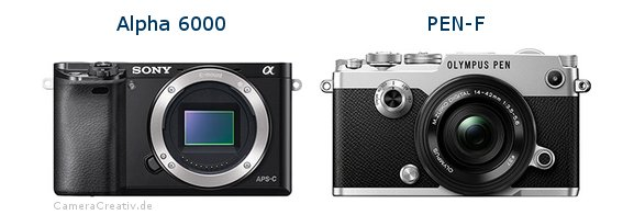 Sony alpha 6000 vs Olympus pen f