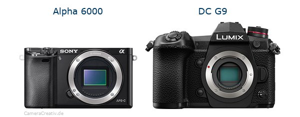 Sony alpha 6000 vs Panasonic dc g9