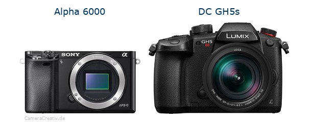 Sony alpha 6000 vs Panasonic dc gh5s