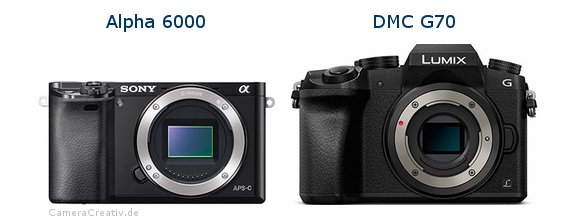 Sony alpha 6000 vs Panasonic dmc g 70