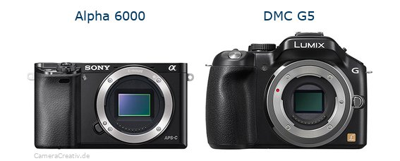 Sony alpha 6000 vs Panasonic dmc g5