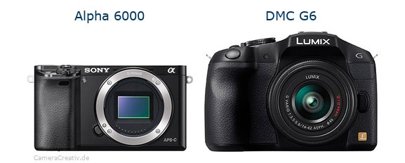 Sony alpha 6000 vs Panasonic dmc g6