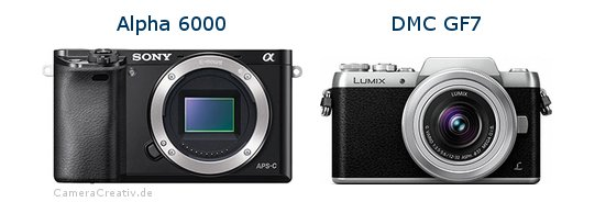 Sony alpha 6000 vs Panasonic dmc gf 7