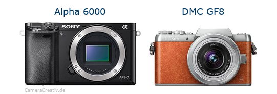 Sony alpha 6000 vs Panasonic dmc gf 8