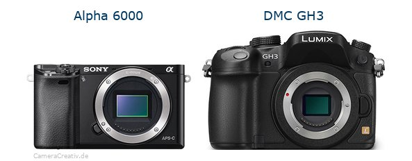 Sony alpha 6000 vs Panasonic dmc gh3