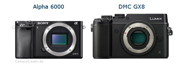 Sony alpha 6000 vs Panasonic dmc gx 8
