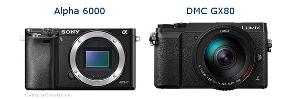 Sony alpha 6000 vs Panasonic dmc gx 80