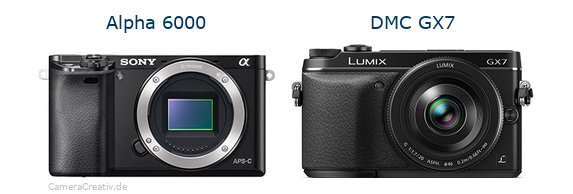 Sony alpha 6000 vs Panasonic dmc gx7