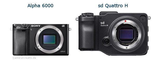 Sony alpha 6000 vs Sigma sd quattro h