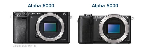 Sony alpha 6000 vs Sony alpha 5000