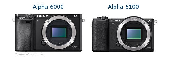 Sony alpha 6000 vs Sony alpha 5100