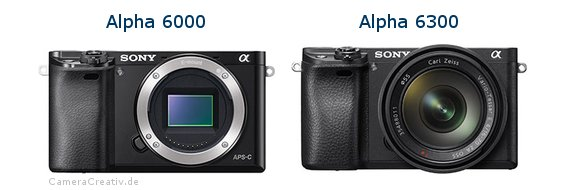 Sony alpha 6000 vs Sony alpha 6300
