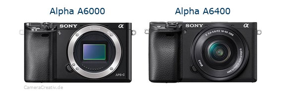 Sony alpha 6000 vs Sony alpha 6400