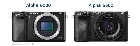 Sony alpha 6000 vs Sony alpha 6500