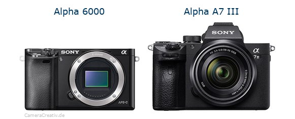 Sony alpha 6000 vs Sony alpha a7 iii