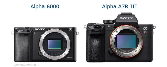 Sony alpha 6000 vs Sony alpha a7r iii