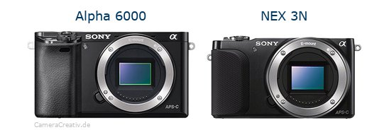 Sony alpha 6000 vs Sony nex 3n
