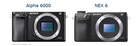 Sony alpha 6000 vs Sony nex 6