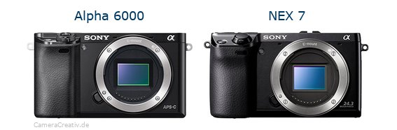 Sony alpha 6000 vs Sony nex 7
