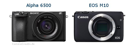 Sony alpha 6500 vs Canon eos m10
