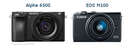 Sony alpha 6500 vs Canon eos m100