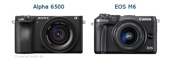 Sony alpha 6500 vs Canon eos m6