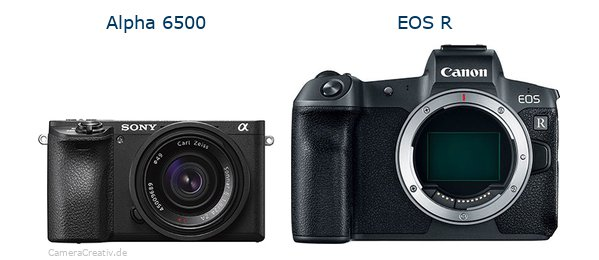Sony alpha 6500 vs Canon eos r