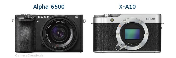 Sony alpha 6500 vs Fujifilm x a10