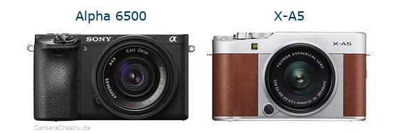 Sony alpha 6500 vs Fujifilm x a5