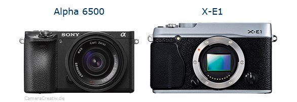 Sony alpha 6500 vs Fujifilm x e1