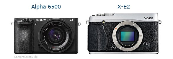 Sony alpha 6500 vs Fujifilm x e2