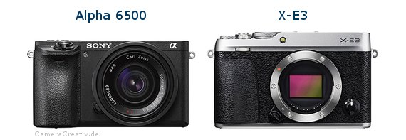 Sony alpha 6500 vs Fujifilm x e3