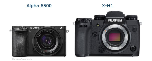 Sony alpha 6500 vs Fujifilm x h1