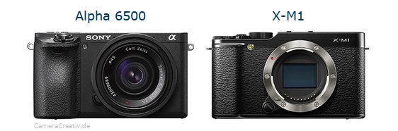 Sony alpha 6500 vs Fujifilm x m1