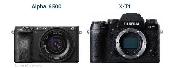 Sony alpha 6500 vs Fujifilm x t1