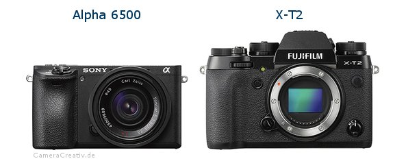 Sony alpha 6500 vs Fujifilm x t2
