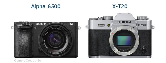 Sony alpha 6500 vs Fujifilm x t20