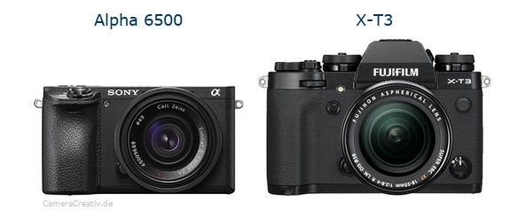Sony alpha 6500 vs Fujifilm x t3