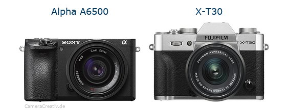 Sony alpha 6500 vs Fujifilm x t30