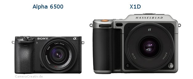 Sony alpha 6500 oder Hasselblad x1d