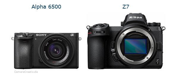 Sony alpha 6500 vs Nikon z7