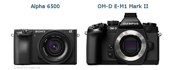 Sony alpha 6500 vs Olympus om d e m1 mark ii