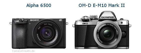 Sony alpha 6500 vs Olympus om d e m10 mark ii