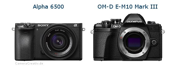 Sony alpha 6500 vs Olympus om d e m10 mark iii