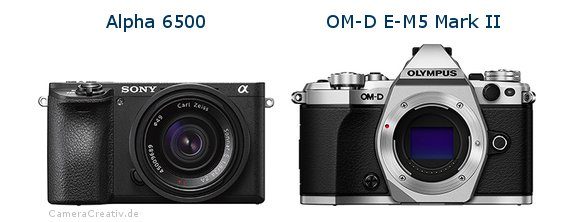 Sony alpha 6500 vs Olympus om d e m5 mark ii