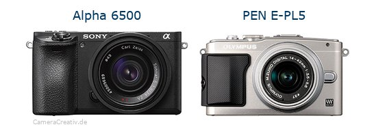Sony alpha 6500 vs Olympus pen e pl5