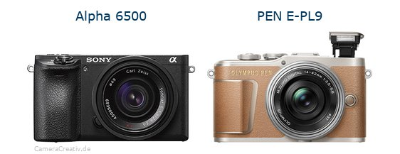 Sony alpha 6500 vs Olympus pen e pl9