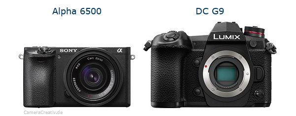 Sony alpha 6500 vs Panasonic dc g9