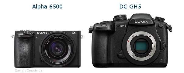 Sony alpha 6500 vs Panasonic dc gh 5